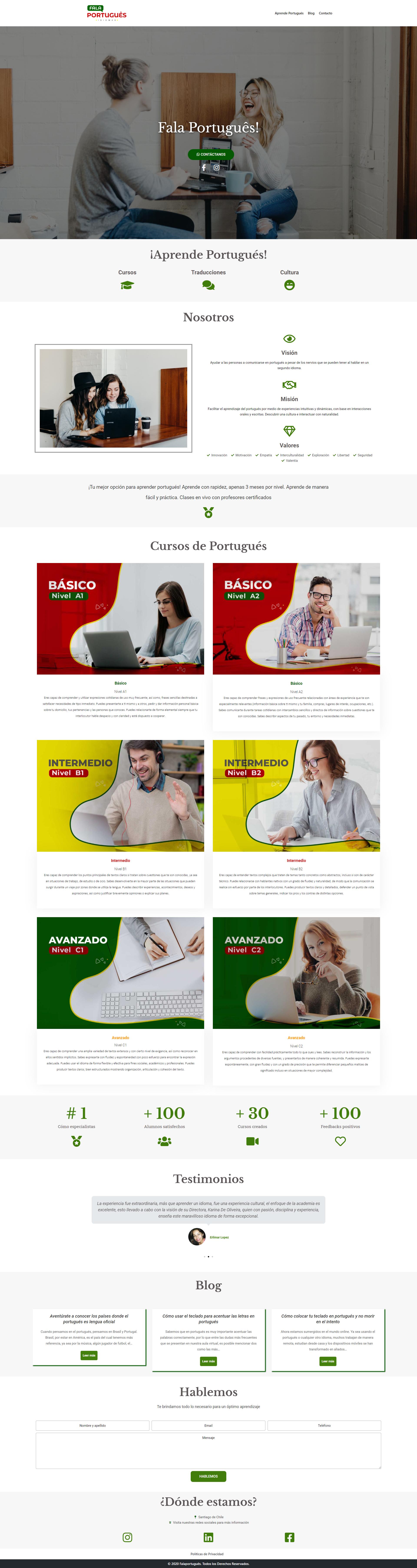 sitio web para aprender a hablar portigues