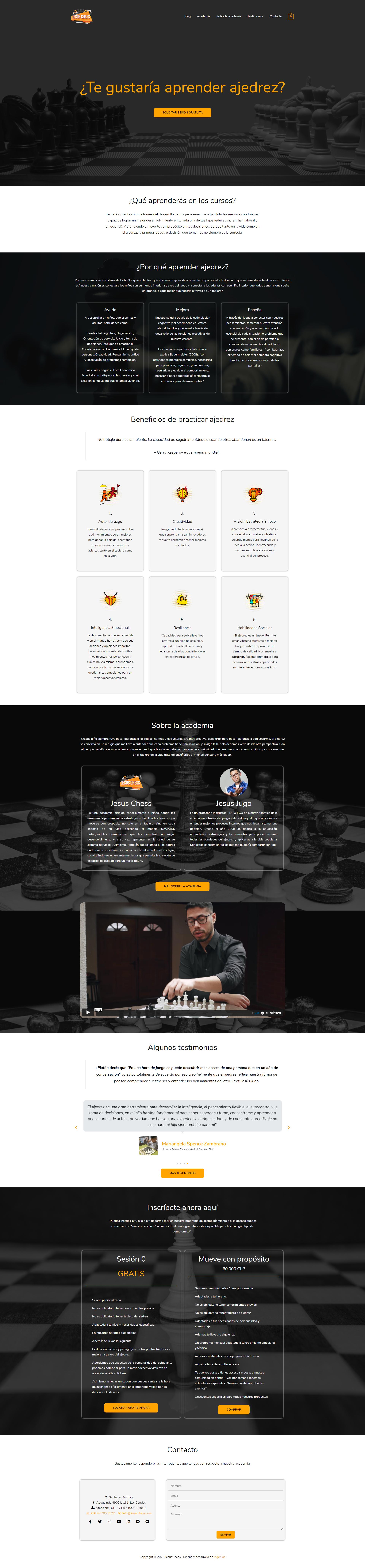 academia para aprender ajedrez